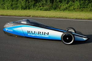 KU:RIN compressed air car snags record with 129.2 KM/H run on Ibaraki test track