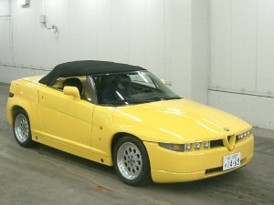 Alfa Romeo RZ convertible 1994 (front) - at a car auction in Japan