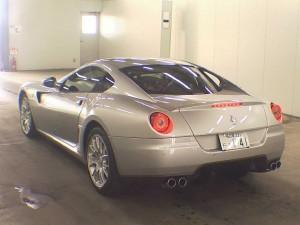 Ferrari 599 in a car auction in Japan