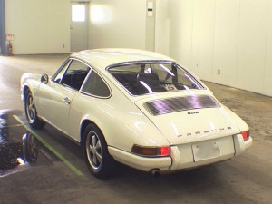 1972 Porsche 911 at auction -- rear