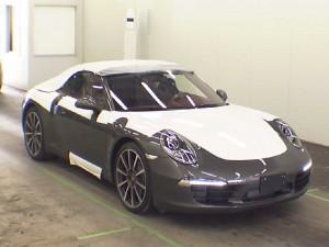 2012 Porsche 991 cabriolet at auction in Japan
