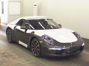 2012 Porsche 991 cabriolet at auction in Japan