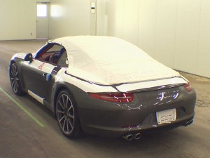 2012 Porsche 991 cabriolet at auction in Japan - rear