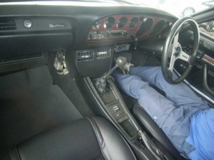 Interior of 1975 Toyota Celica