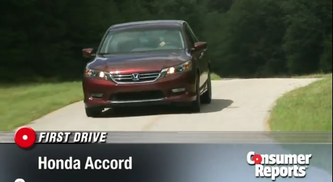 2013 Honda Accord being tested by Comsumer Reports