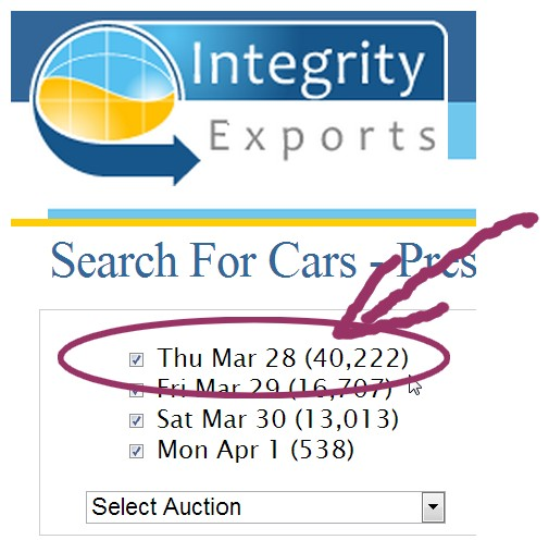Japan car auctions - March 2013 numbers