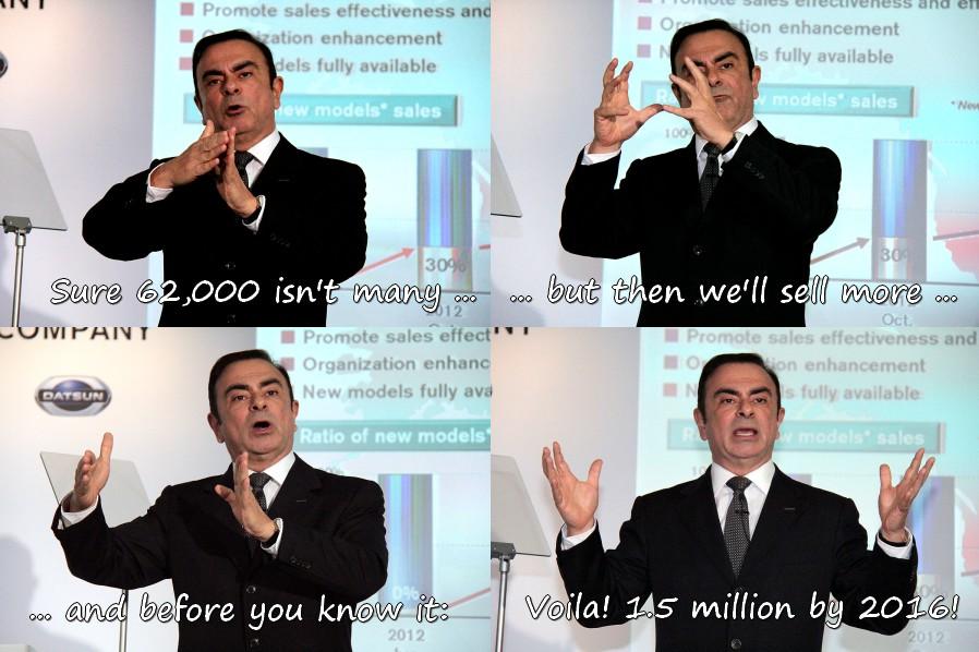 Carlos Ghosn still sees 1.5 million EV sales by 2016