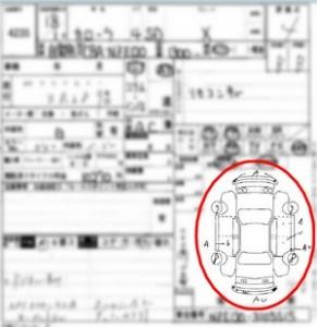 Japanese car auction sheet car map