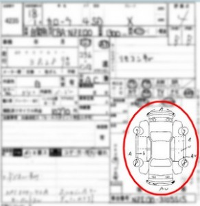 Japanese car auction sheet car map