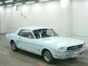 Front of 1996 Ford Mustang in Car Auction in Japan