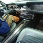 Interior of 1996 Ford Mustang in Car Auction in Japan