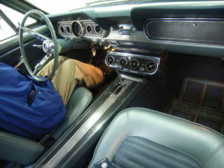 Interior of 1966 Ford Mustang in Car Auction in Japan