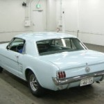 Rear of 1966 Ford Mustang in Car Auction in Japan