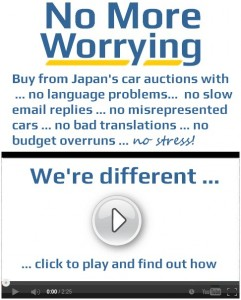 Japan car auction buying with no stress or worry