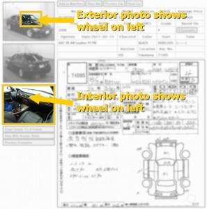 LHD car in Japanese car auction