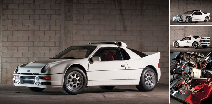Ford RS200 Evolution 1986 model at auction