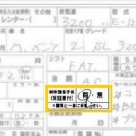 Japanese car auction sheet showing service books present