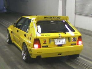 Lancia Delta Evolution II 1994 in the car auction in Japan - rear