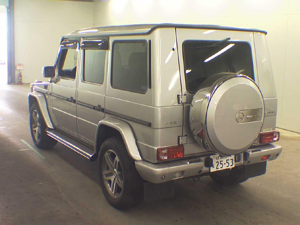 Mercedes G Class (G Wagen) G500L in Japan's car auctions - rear