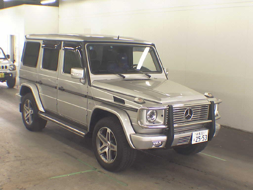 Mercedes G Class (G Wagen) G500L in Japan's car auctions - front