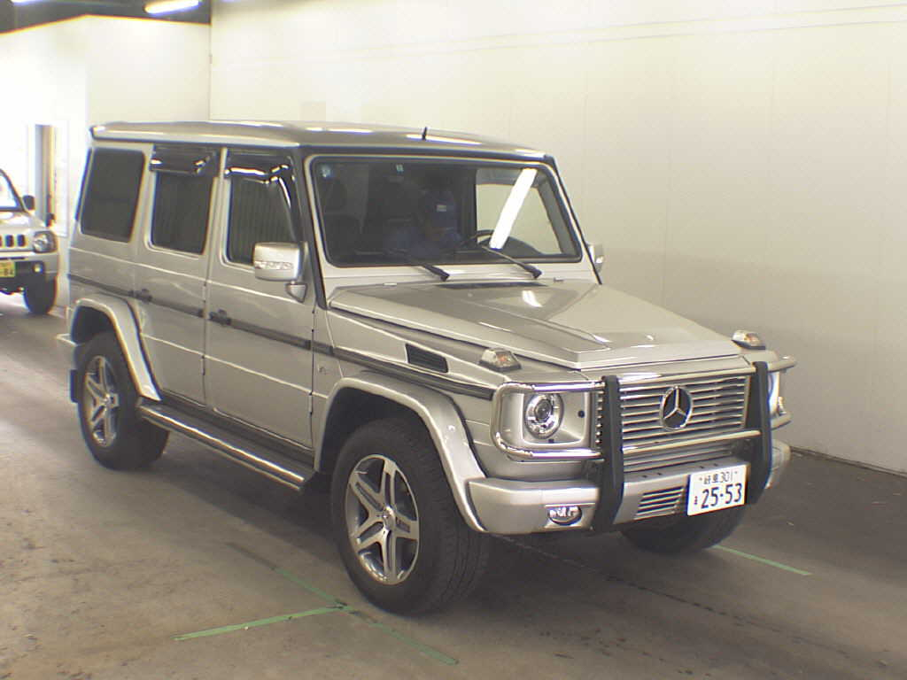 Mercedes G Class (G Wagen) G500L in Japan's car auctions - front