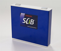 Toshiba SCiB lithium titanate oxide rechargeable EV battery