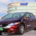 Honda FCX Clarity airport limousine service at Narita Airport, Tokyo