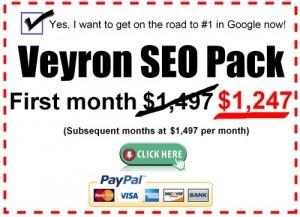 Car dealer SEO Veyron package