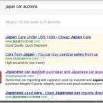 Japan car auctions Google ranking