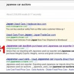 Japanese car auctions Google ranking