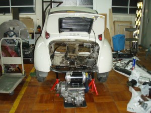 Subaru 360 EV electric vehicle work in progress
