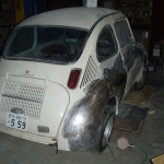 Subaru 360 EV electric vehicle work in progress 2