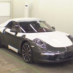 2012 Porsche 991 cabriolet at auction in Japan - front