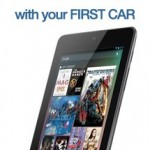 Free Nexus 7 with your first car