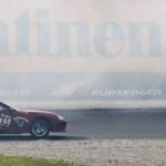 Supra with tire smoke