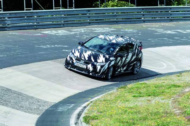 Honda Civic Type R testing