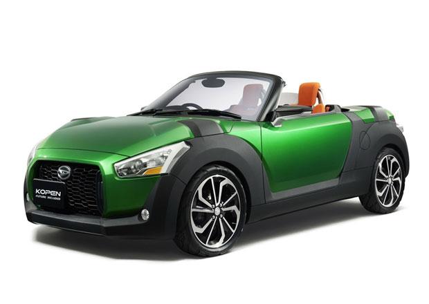 Daihatsu Kopen concept car in green - Tokyo Motor Show 2013