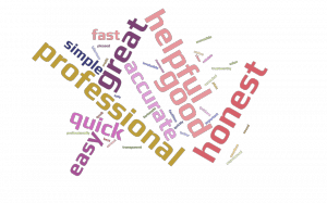 Integrity Exports testimonial word cloud