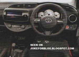 Leaked Toyota Yaris Interior