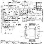 2013 Subaru BRZ Auction Sheet