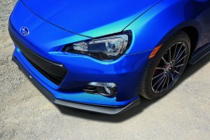 2015 Subaru BRZ Series.Blue front spoiler