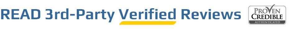 Testimonials from real customers verified by ProvenCredible.com