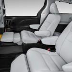 2015 Toyota Sienna white leather interior