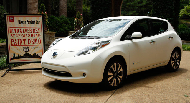 Self-Cleaning Nissan Leaf