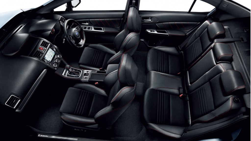 2015 Subaru WRX S4 interior