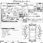 2005 Honda HR-V auction sheet