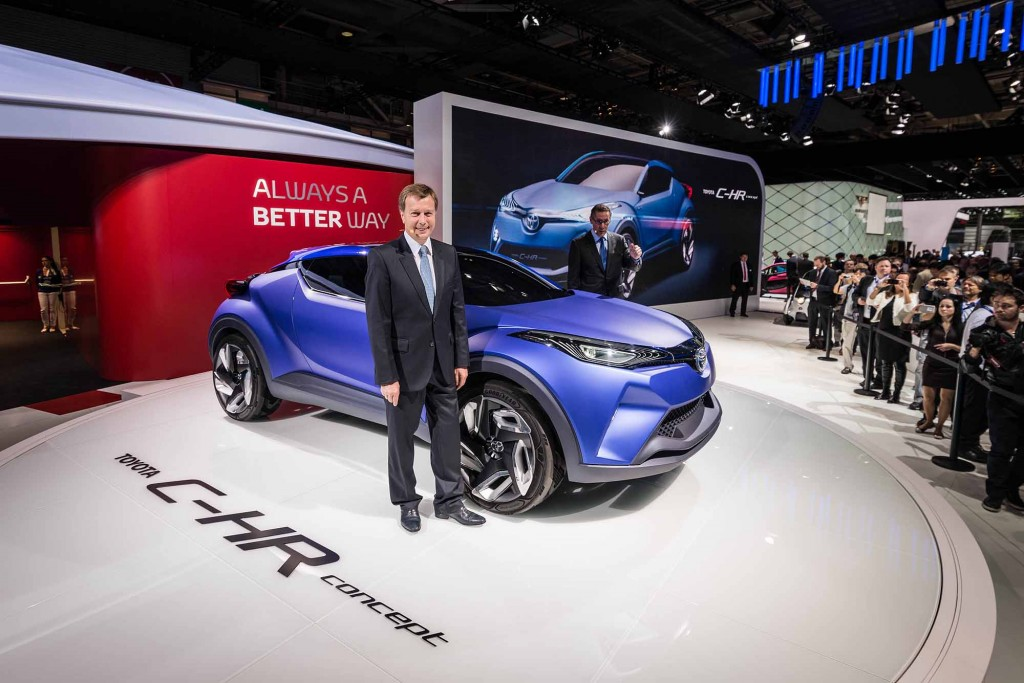 2014 Toyota C-HR Concept Size Comparison