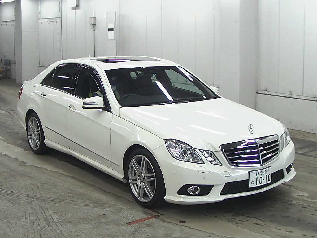 Japanese car auction find 2009 mercedes benz e class for Mercedes benz 2009 e class