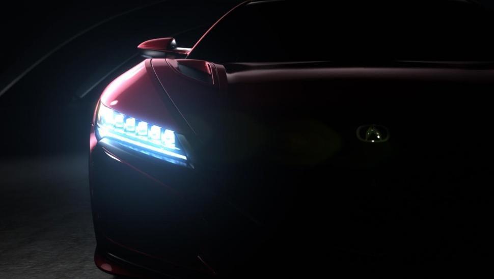 2016 Acura NSX Teaser headlights