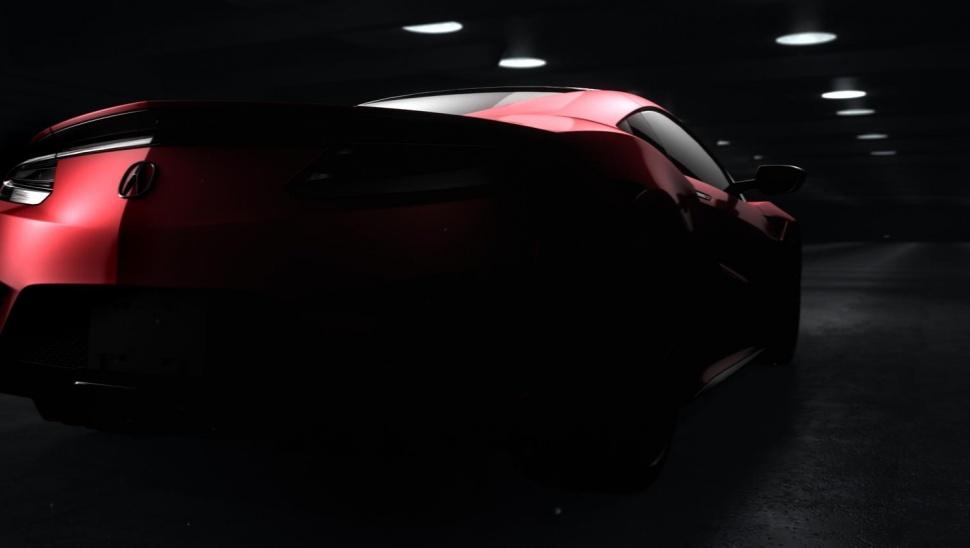 2016 Acura NSX Teaser rear
